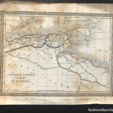 Arte: XIX - MAPA DEL NORTE DE AFRICA - LIBIA - ARGELIA - NUMIDIA - 24X20 CM. Lote 207052560