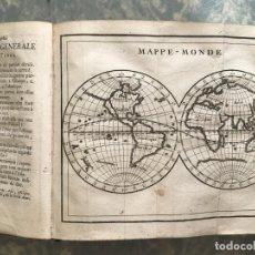 Arte: GÉOGRAPHIE UNIVERSELLE...TRAITE DE LA SPHERE, 1738-39. CLAUDE BUFFIER. MAPAS DESPLEGABLES. Lote 207182297
