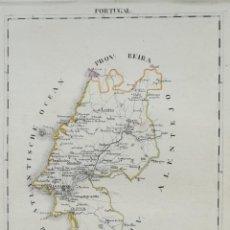 Arte: MAPA PROVINCIA DE EXTREMADURA (PORTUGAL) - AÑO 1825 - ES ORIGINAL. Lote 207212590