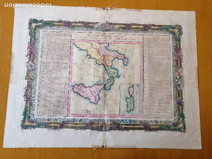 SUITE DE L'ITALIE ANCIENNE... CLAUDE BUY DE MORNAS, ATLAS HISTORIQUE ET GÉOGRAPHIQUE...1762 (Arte - Cartografía Antigua (hasta S. XIX))