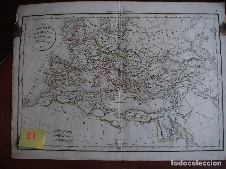 MAPA IMPERIO ROMANO IMPERII ROMANI TABULA DELAMARCHE 1831 (Arte - Cartografía Antigua (hasta S. XIX))