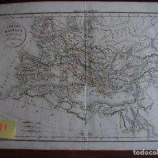 Arte: MAPA IMPERIO ROMANO IMPERII ROMANI TABULA DELAMARCHE 1831. Lote 208745777