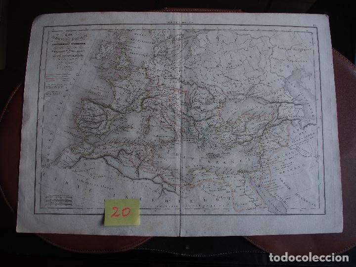 MAPA IMPERIO ROMANO DESDE AUGUSTO A DIOCLECIANO DELAMARCHE 1839 (Arte - Cartografía Antigua (hasta S. XIX))