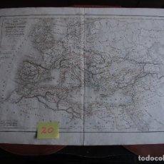 Arte: MAPA IMPERIO ROMANO DESDE AUGUSTO A DIOCLECIANO DELAMARCHE 1839. Lote 208748076