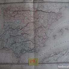 Arte: MAPA DE ESPAÑA ESPGNE ANCIENNE TARDIEU 1855 PUBLICADO POR FURNE - PARIS. Lote 208751485