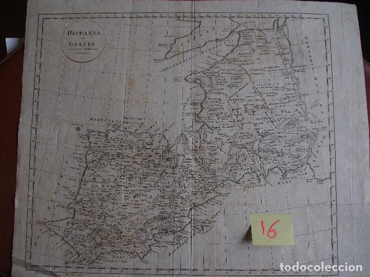 MAPA DE HISPANIA ET GALLIA AD MENTEM PTOLEMAEI DELINTAE ZU MANNERTS GEOGR. RAUSCH SC. (Arte - Cartografía Antigua (hasta S. XIX))