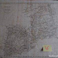 Arte: MAPA DE HISPANIA ET GALLIA AD MENTEM PTOLEMAEI DELINTAE ZU MANNERTS GEOGR. RAUSCH SC.. Lote 208756813