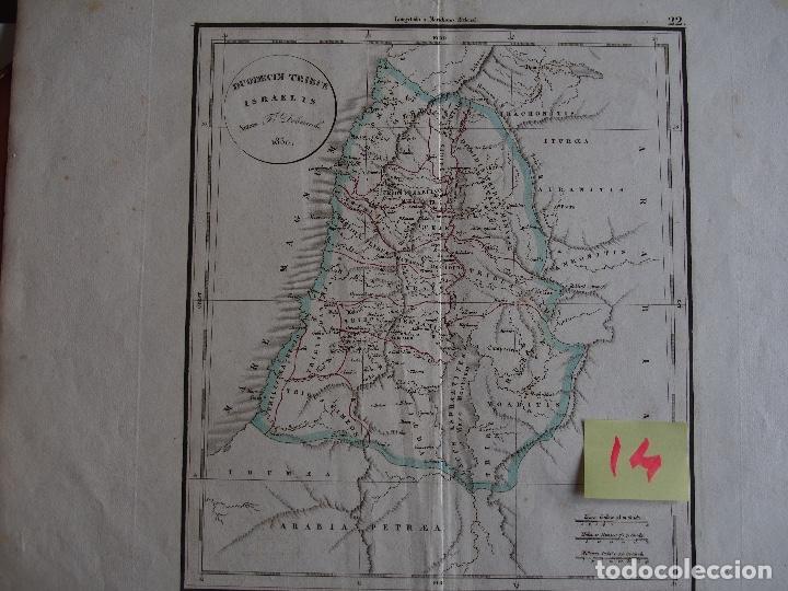 LAS DOCE TRIBUS DE ISRAEL. DUODECIM TRIBUS ISRAELIS. 1830. DELAMARCHE 1830. (Arte - Cartografía Antigua (hasta S. XIX))