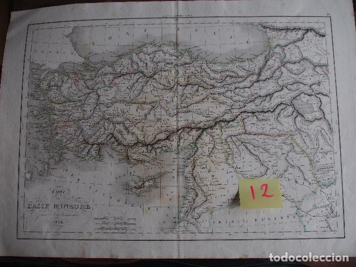 MAPA HISTÓRICO ASIA MENOR. CARTE DE L'ASIE MINEURE, PAR DELAMARCHE 1838. (Arte - Cartografía Antigua (hasta S. XIX))