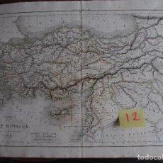Arte: MAPA HISTÓRICO ASIA MENOR. CARTE DE L'ASIE MINEURE, PAR DELAMARCHE 1838.. Lote 208762497