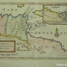 Arte: MAPA DE LA GUERRA CIVIL DE JULIO CESAR EN EL NORTE DE ÁFRICA, 1721. HERMANN MOLL. Lote 208880535