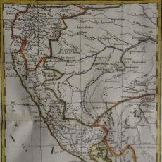 Arte: ECUADOR, PERU, CHILE, BOLIVIA, BRASIL…. BONNE/RAYNAL, 1780, CARTE DU PEROU AVEC UNE PARTIE,….. Lote 208934797