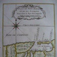 Arte: MAPA DEL PUERTO REAL DE LA BAHÍA DE CAMPECHE (MÉXICO), 1754. BELLIN/PREVOST. Lote 208935515