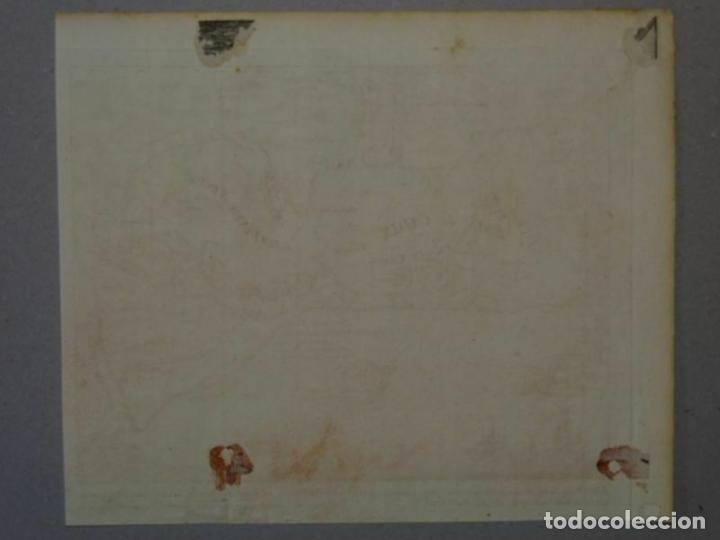 Arte: Batalla naval en la bahía y puerto de Cádiz (España), hacia 1715. Peter Schenk - Foto 4 - 208961220