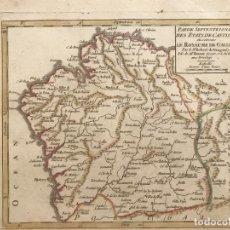Arte: MAPA DE GALICIA (ESPAÑA), HACIA 1748. ROBERT DE VAUGONDY. Lote 208964898