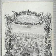 Arte: GRABADO BATALLA DE MALAGA 1704 - DECKER - GUERRA DE SUCESION - ES ORIGINAL. Lote 208994377