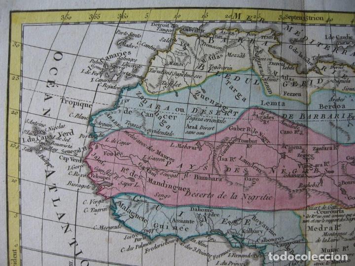 Arte: Mapa de África, hacia 1799. Vaugondy/Delamarche - Foto 2 - 209361470