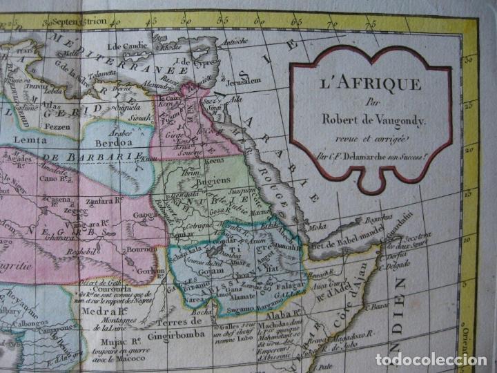 Arte: Mapa de África, hacia 1799. Vaugondy/Delamarche - Foto 3 - 209361470
