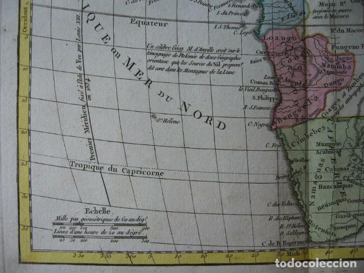 Arte: Mapa de África, hacia 1799. Vaugondy/Delamarche - Foto 4 - 209361470