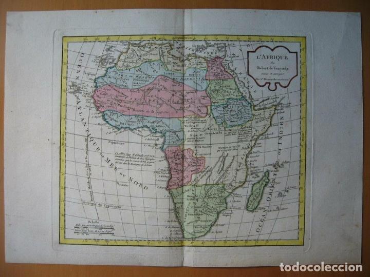 Arte: Mapa de África, hacia 1799. Vaugondy/Delamarche - Foto 6 - 209361470