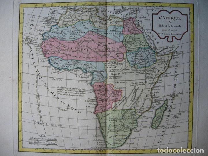 MAPA DE ÁFRICA, HACIA 1799. VAUGONDY/DELAMARCHE (Arte - Cartografía Antigua (hasta S. XIX))