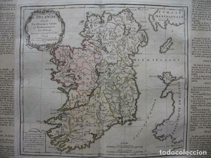 MAPA DE LA ISLA DE IRLANDA (EUROPA), 1766. BRION DE LA TOUR/DESNOS (Arte - Cartografía Antigua (hasta S. XIX))
