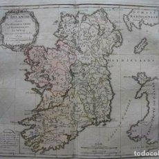 Arte: MAPA DE LA ISLA DE IRLANDA (EUROPA), 1766. BRION DE LA TOUR/DESNOS. Lote 209577506
