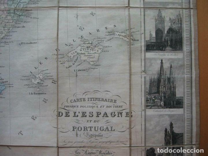 Arte: Gran mapa plegable de España y Portugal, hacia 1840. Fremin/Lavigne - Foto 2 - 209579826