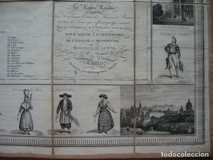 Arte: Gran mapa plegable de España y Portugal, hacia 1840. Fremin/Lavigne - Foto 3 - 209579826