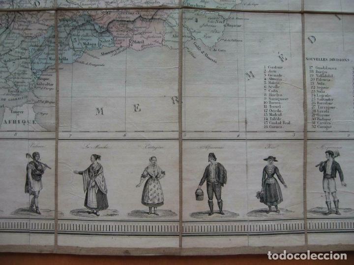 Arte: Gran mapa plegable de España y Portugal, hacia 1840. Fremin/Lavigne - Foto 4 - 209579826