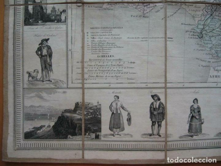Arte: Gran mapa plegable de España y Portugal, hacia 1840. Fremin/Lavigne - Foto 5 - 209579826