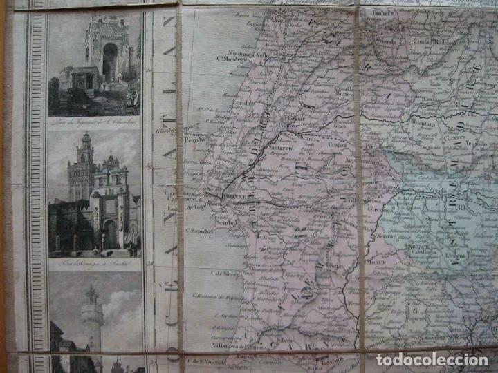 Arte: Gran mapa plegable de España y Portugal, hacia 1840. Fremin/Lavigne - Foto 6 - 209579826