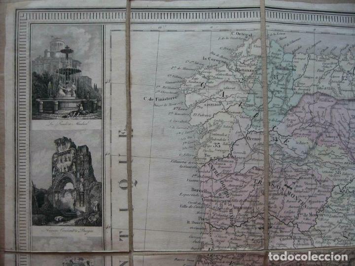 Arte: Gran mapa plegable de España y Portugal, hacia 1840. Fremin/Lavigne - Foto 7 - 209579826