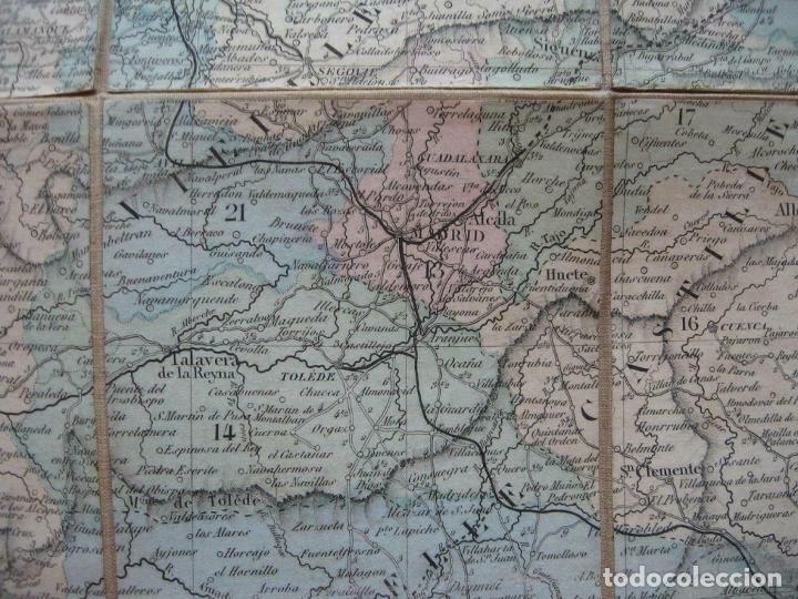 Arte: Gran mapa plegable de España y Portugal, hacia 1840. Fremin/Lavigne - Foto 8 - 209579826