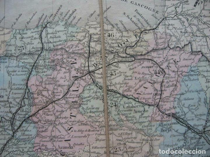 Arte: Gran mapa plegable de España y Portugal, hacia 1840. Fremin/Lavigne - Foto 9 - 209579826
