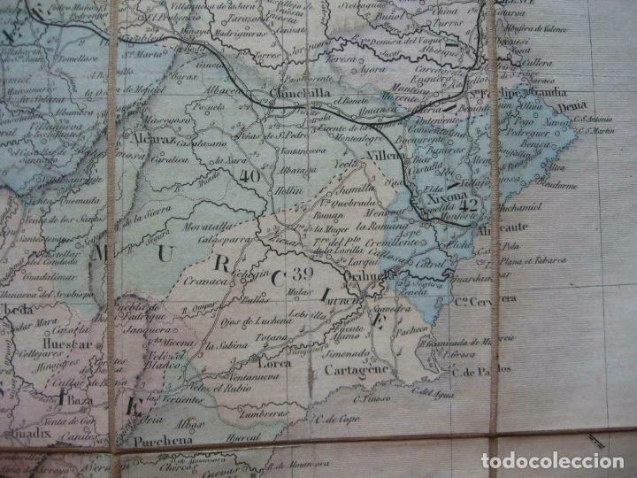 Arte: Gran mapa plegable de España y Portugal, hacia 1840. Fremin/Lavigne - Foto 10 - 209579826