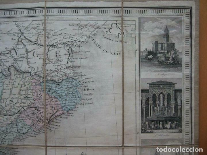 Arte: Gran mapa plegable de España y Portugal, hacia 1840. Fremin/Lavigne - Foto 12 - 209579826