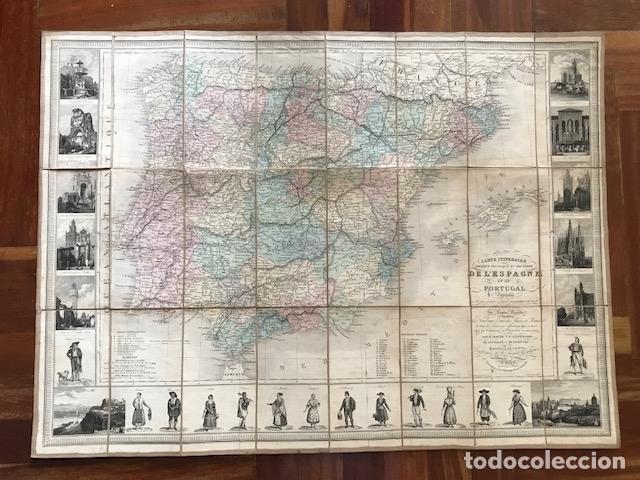 Arte: Gran mapa plegable de España y Portugal, hacia 1840. Fremin/Lavigne - Foto 15 - 209579826
