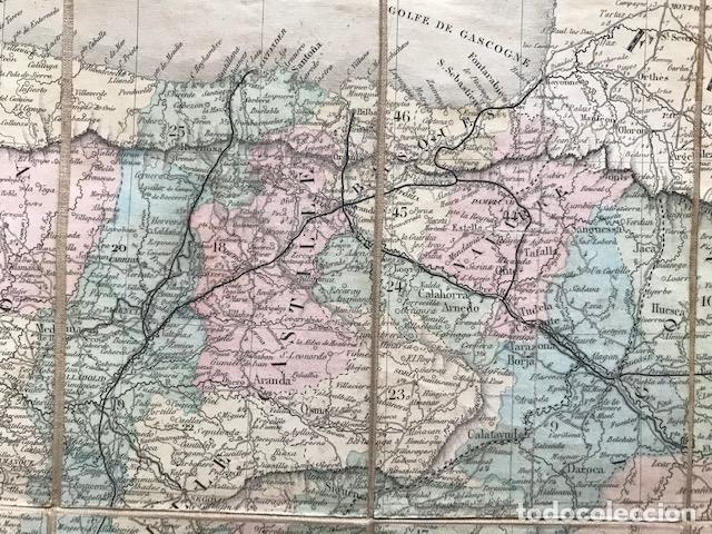 Arte: Gran mapa plegable de España y Portugal, hacia 1840. Fremin/Lavigne - Foto 17 - 209579826