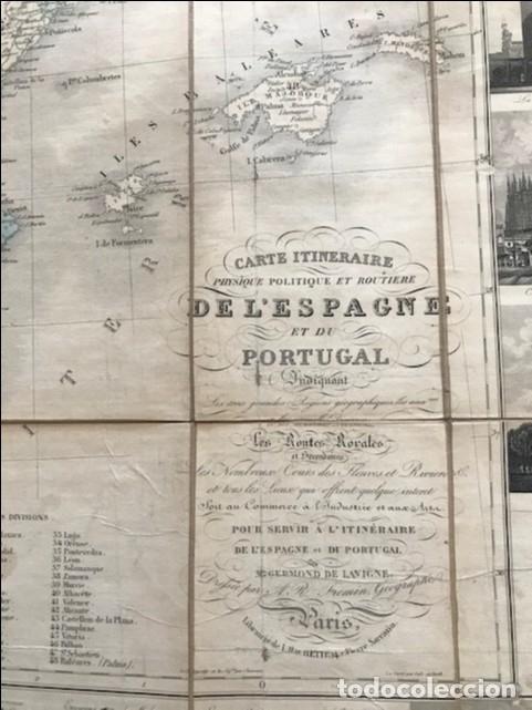 Arte: Gran mapa plegable de España y Portugal, hacia 1840. Fremin/Lavigne - Foto 20 - 209579826