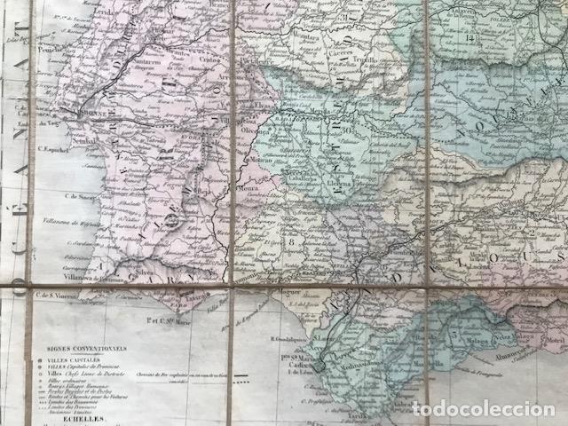 Arte: Gran mapa plegable de España y Portugal, hacia 1840. Fremin/Lavigne - Foto 21 - 209579826