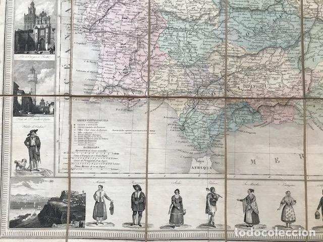 Arte: Gran mapa plegable de España y Portugal, hacia 1840. Fremin/Lavigne - Foto 23 - 209579826