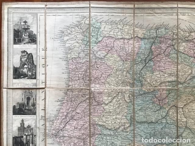 Arte: Gran mapa plegable de España y Portugal, hacia 1840. Fremin/Lavigne - Foto 24 - 209579826