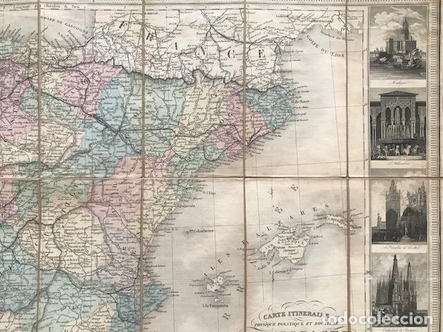 Arte: Gran mapa plegable de España y Portugal, hacia 1840. Fremin/Lavigne - Foto 25 - 209579826