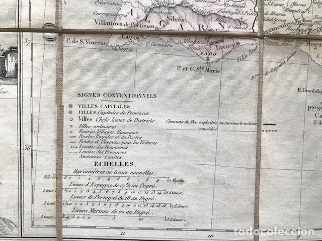 Arte: Gran mapa plegable de España y Portugal, hacia 1840. Fremin/Lavigne - Foto 28 - 209579826