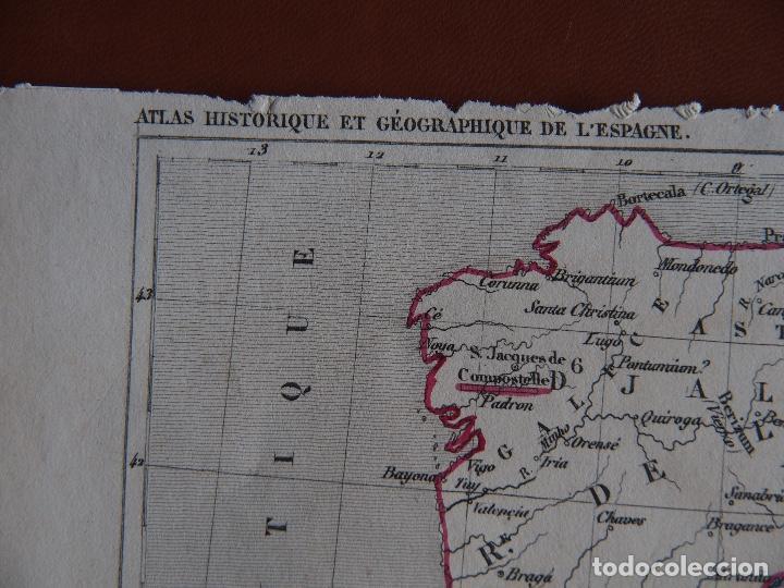Arte: España bajo el Califato de Córdoba 756 a 1030 mapa A. Houzé Atlas Historique - Foto 2 - 209949497