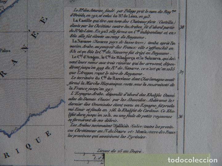 Arte: España bajo el Califato de Córdoba 756 a 1030 mapa A. Houzé Atlas Historique - Foto 4 - 209949497