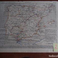 Arte: ESPAÑA BAJO LOS VISIGODOS HASTA LA ÉPOCA DE LA INVASIÓN DE LOS ÁRABES MAPA A. HOUZÉ ATLAS HISTORIQUE. Lote 249522875