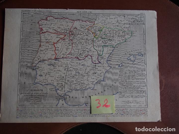 ESPAÑA DESPUÉS DE LA CAIDÁ DEL CALIFATO DE CORDOBA Y LAS INVASIONES 1027-1212 A. HOUZÉ (Arte - Cartografía Antigua (hasta S. XIX))