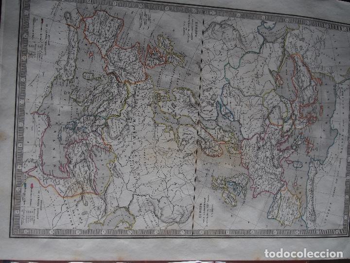 EUROPA BAJO CARLOMAGNO FINES S. VIII EUROPA BAJO CONSTANTINO FIN S. IV CHARLES V. MONIN 1838 (Arte - Cartografía Antigua (hasta S. XIX))